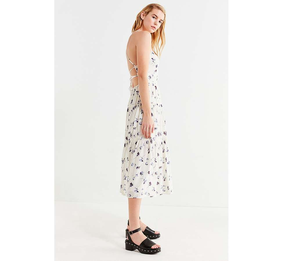 Slide View: 4: UO - Robe midi Sparks Fly à volants