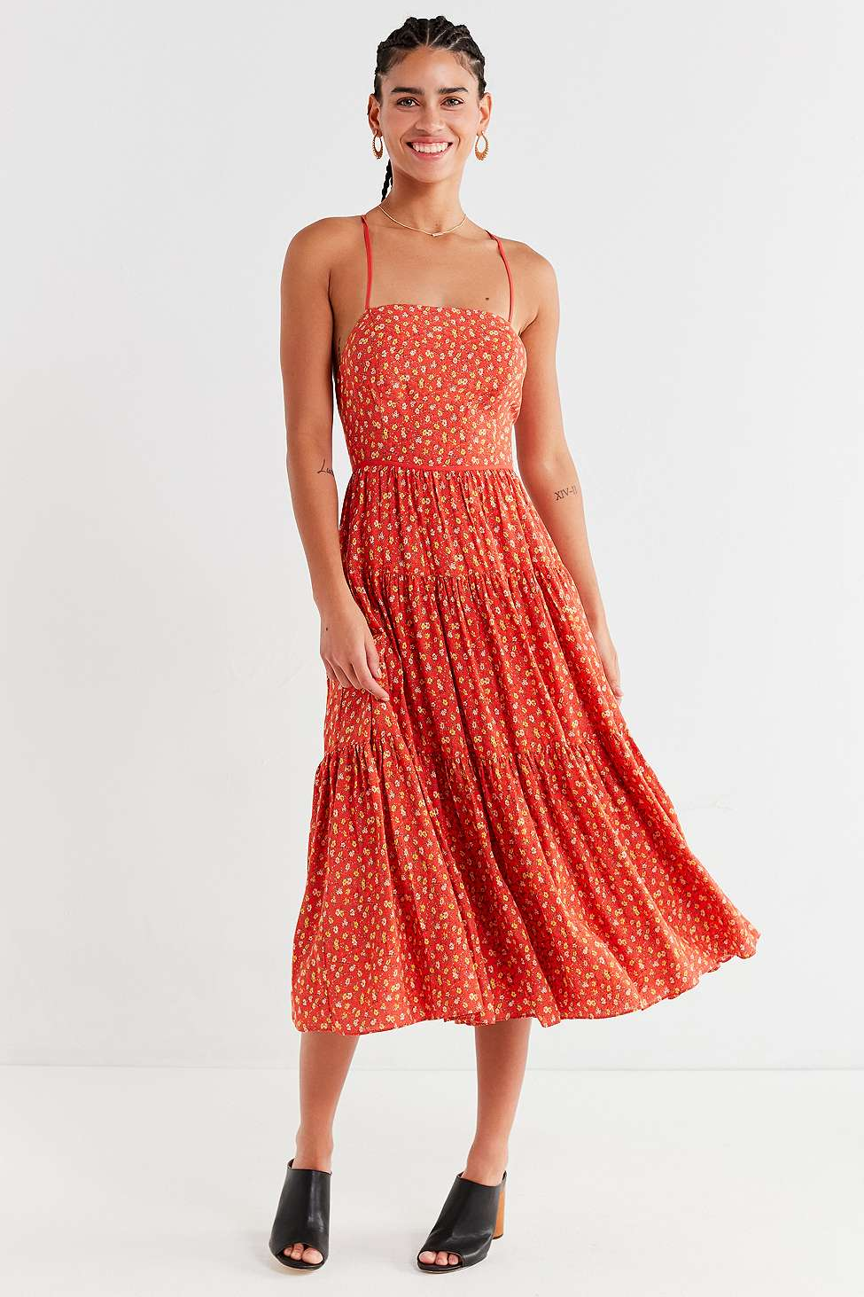 Urban outfitters boho orange dress