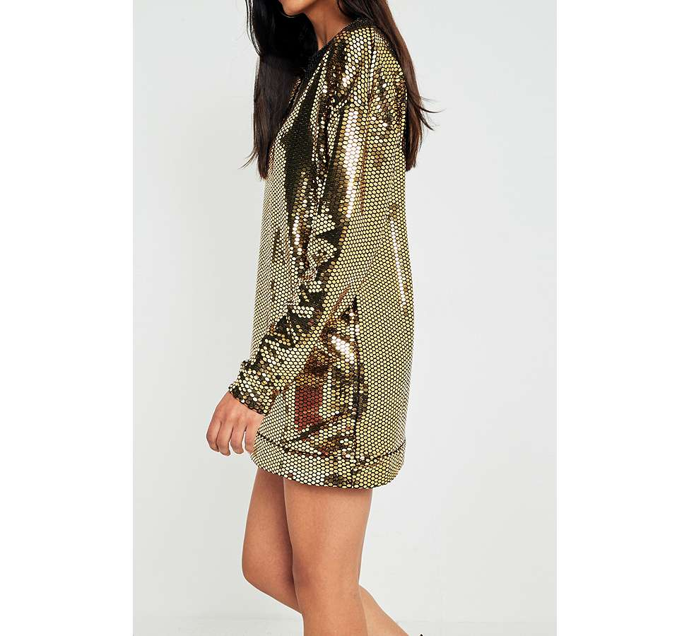 Slide View: 5: Sparkle & Fade Disco Ball Sequin Dress