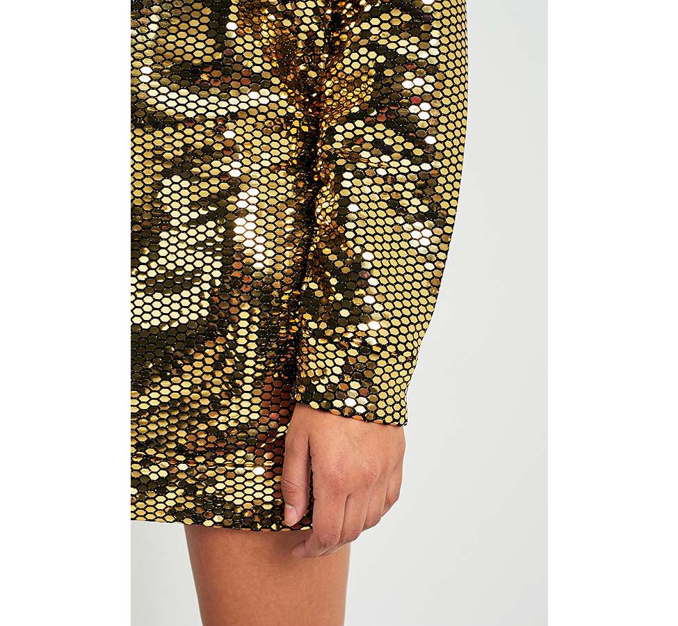 Slide View: 7: Sparkle & Fade Disco Ball Sequin Dress