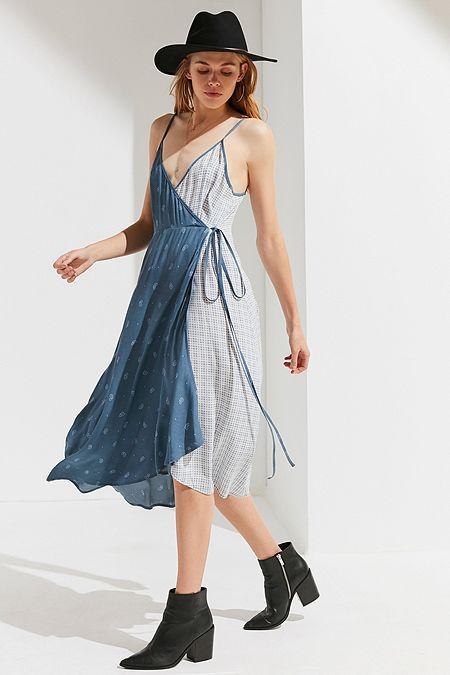 UO Wrap Midi Slip Dress. Quick Shop