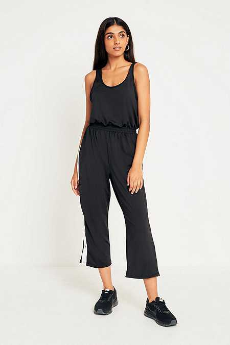 UO Side Stripe Popper Jumpsuit