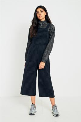 Cooperative by Urban Outfitters - Urban Outfitters Black Bib Culotte Jumpsuit, Blue
