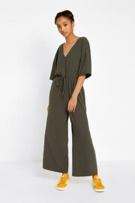 Urban Outfitters - UO Tailored Slouch Jumpsuit, Khaki