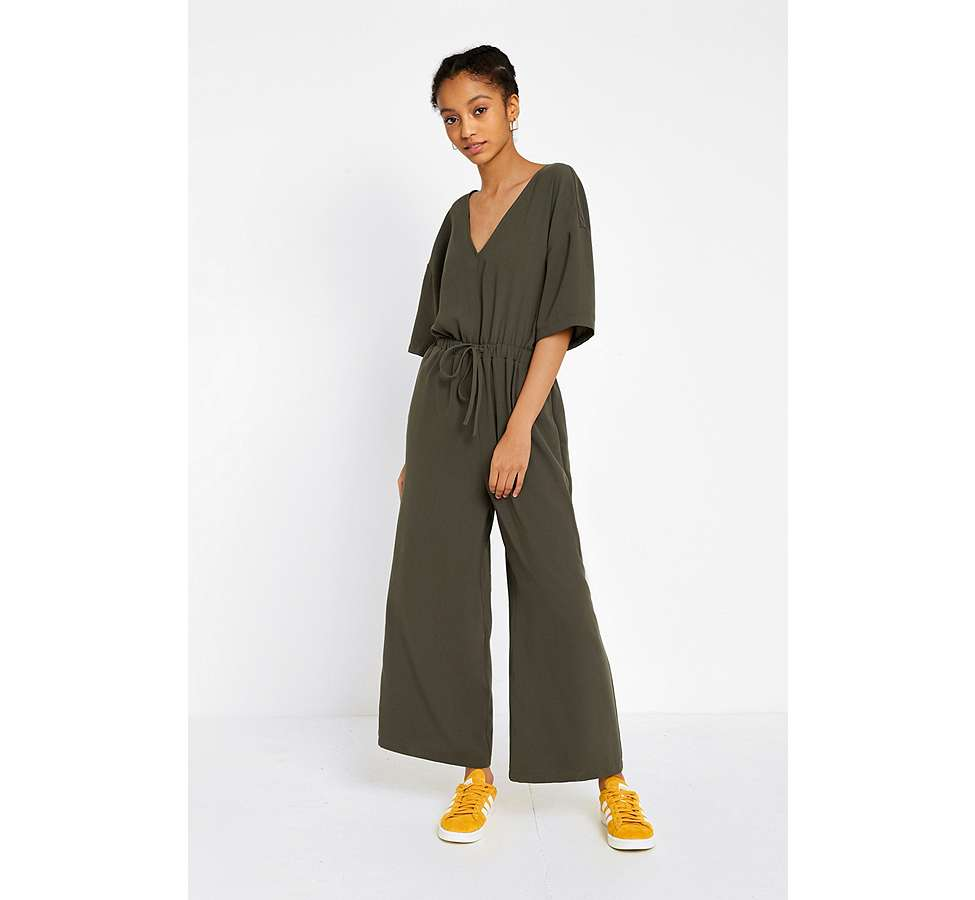 Slide View: 1: UO Tailored Slouch Jumpsuit