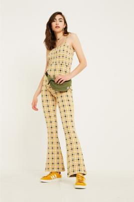 uo-smocked-check-jumpsuit by urban-outfitters