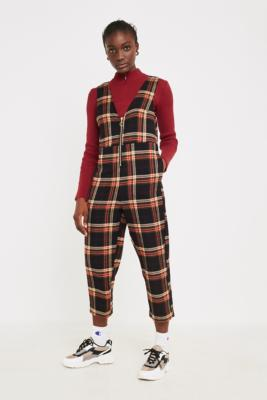 Uo Reign Plaid Flannel Jumpsuit by Urban Outfitters Shoppen