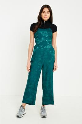 Urban Outfitters - UO Lily Jacquard Lace-Up Jumpsuit, Green