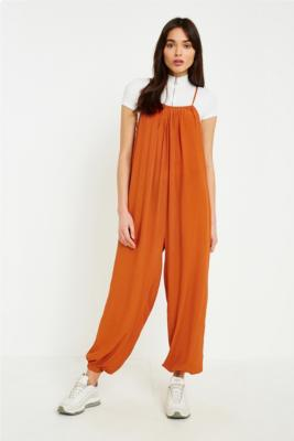Urban Outfitters - UO Slouchy Leg Jumpsuit, Bronze