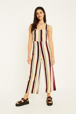 Uo Delany Rainbow Stripe Jumpsuit by Urban Outfitters
