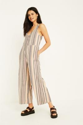 Uo Sage Vertical Stripe Jumpsuit by Urban Outfitters