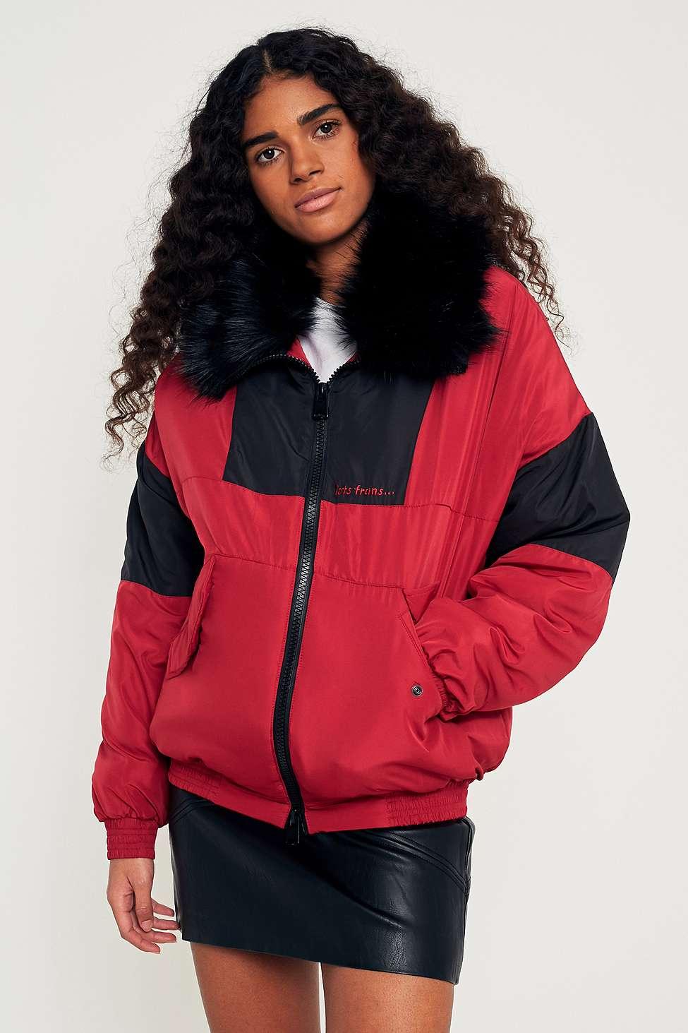 iets frans…  Red Panelled Ski Jacket, Red