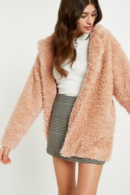 Light Before Dark - Light Before Dark Pink Teddy Hooded Jacket, Pink