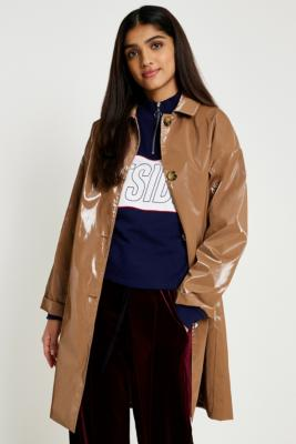 Urban Outfitters - UO Vinyl Trench Coat, beige