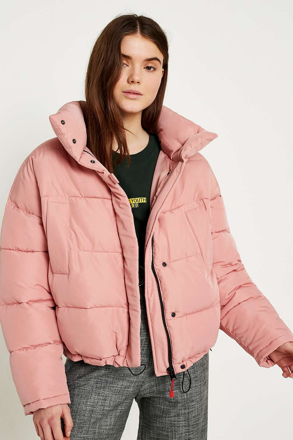Light Before Dark Pink Pillow Puffer Jacket, Pink