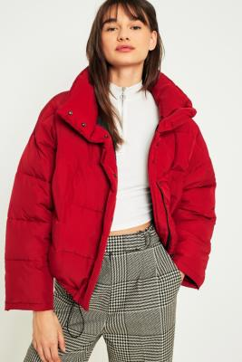 Light Before Dark - Light Before Dark Red Pillow Puffer Jacket, Red
