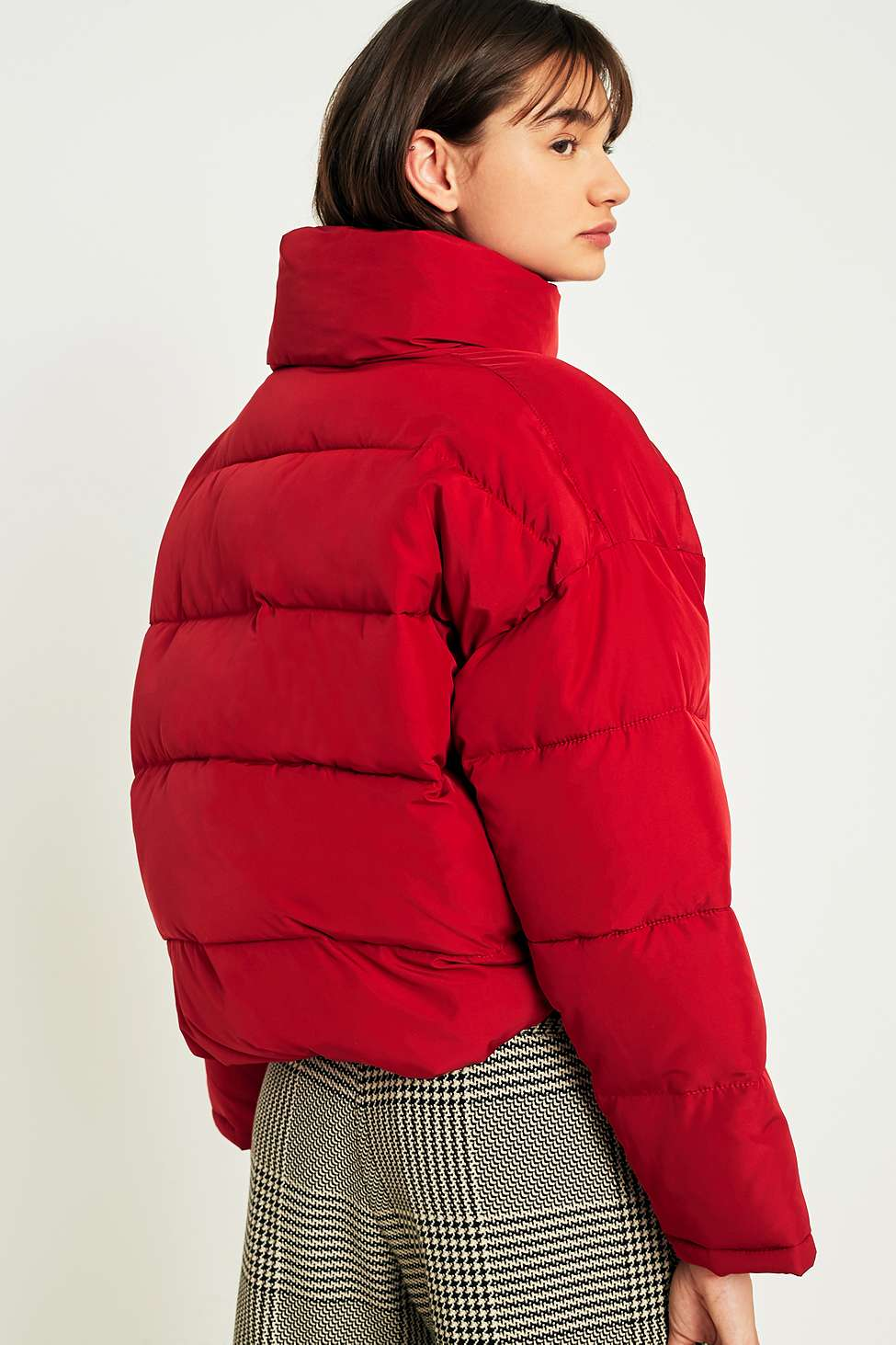Light Before Dark Red Pillow Puffer Jacket Urban Outfitters