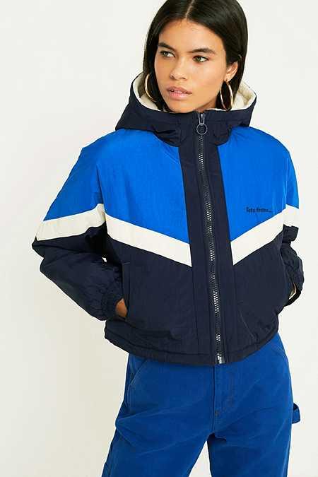 Blue Women S Jackets Coats Winter Bomber Jackets Urban
