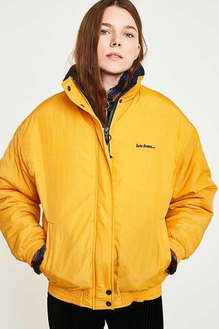 Yellow Women S Jackets Coats Winter Bomber Jackets Urban