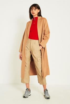 Urban Outfitters - UO Camel Belted Duster Coat, Taupe