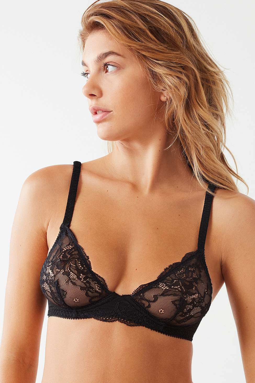 Short and Sweet Lace Underwire Bra, Black
