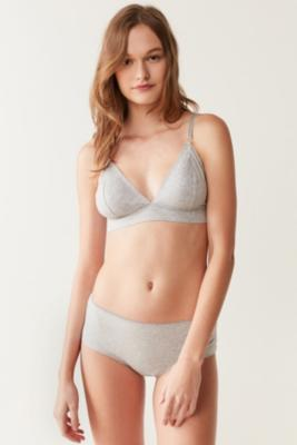 Out From Under - Out From Under Simply Minimal Triangle Bralette, Grey
