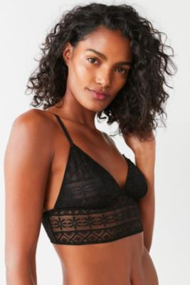 Out From Under - Out From Under Parker Lace Longline Bra, Black