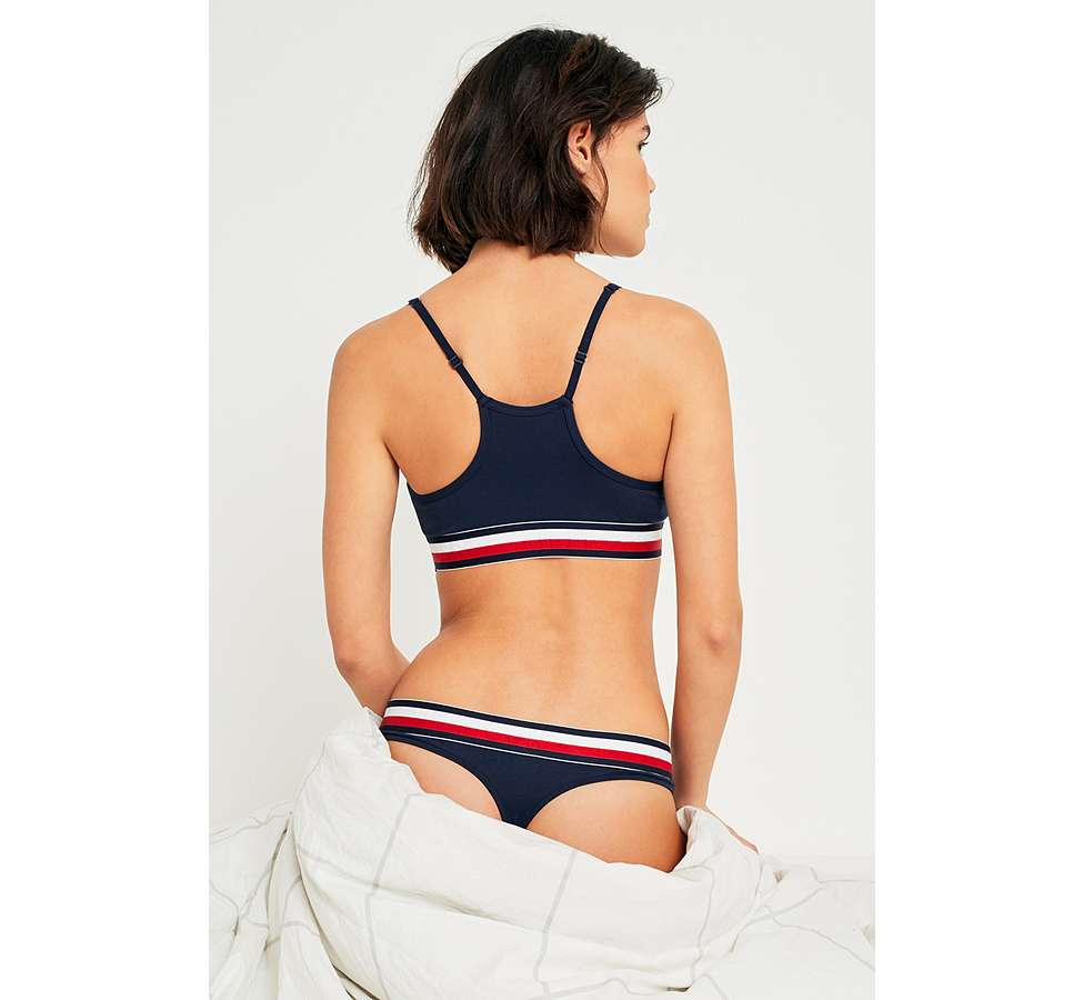 Slide View: 6: Tommy Hilfiger - String à taille rayée