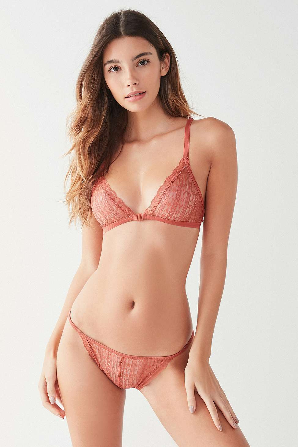 Out From Under You Wish Lace Knickers, Dark Orange