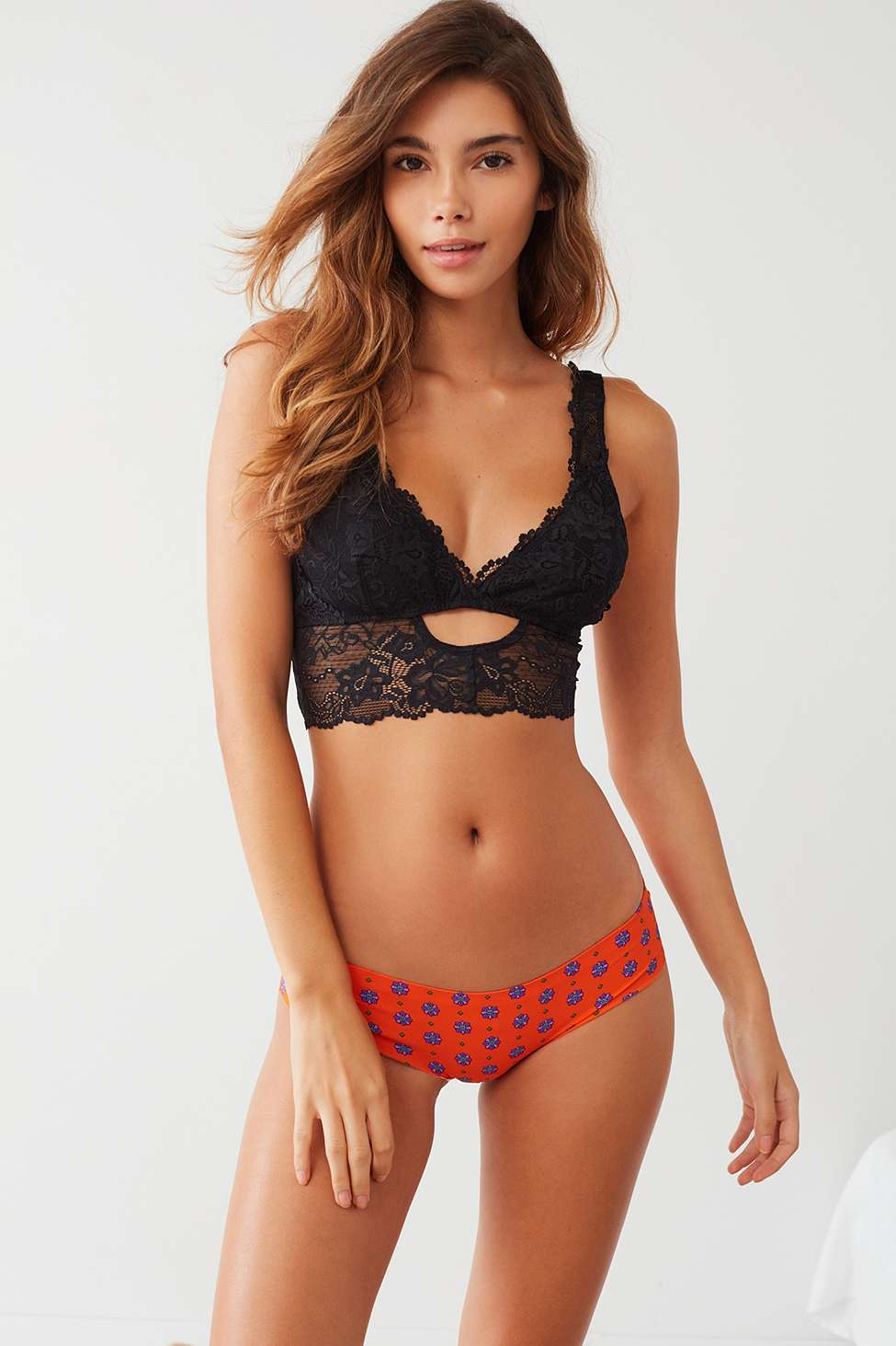 Out From Under Printed No Lines Laser-Cut Hipster Knickers, Assorted