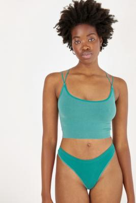 Out From Under Cindy Solid Thong - Green L at Urban Outfitters