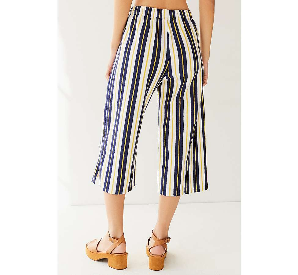 Slide View: 2: Pantalon Sloane court et large