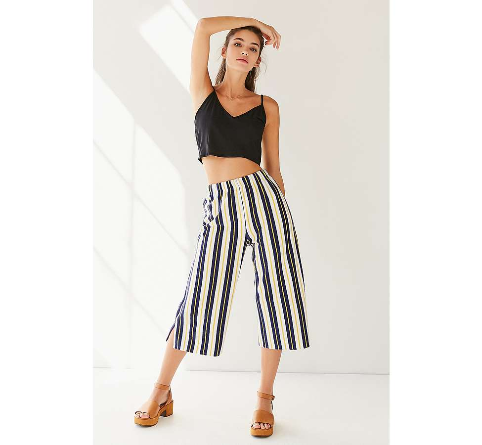Slide View: 4: Pantalon Sloane court et large