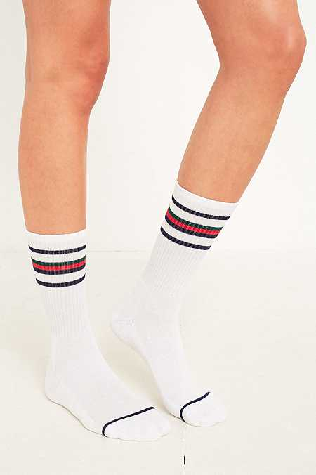 UO Striped Athletic Crew Socks