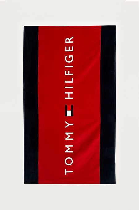 Tommy hilfiger red logo beach towel