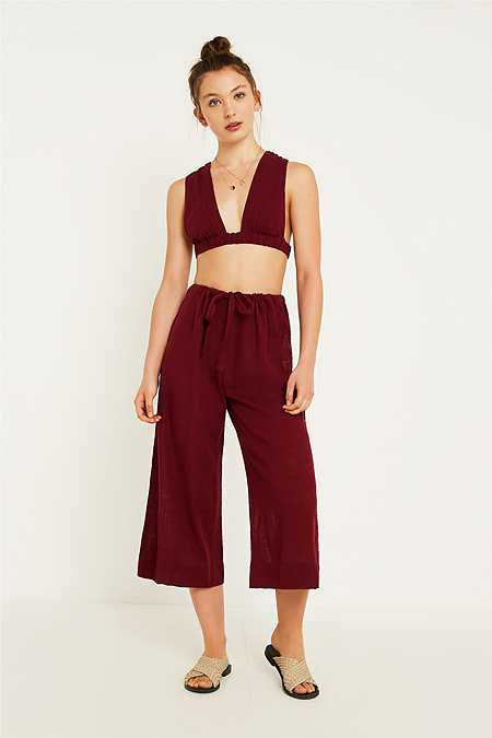 Out From Under Candyd Wide Leg Trousers