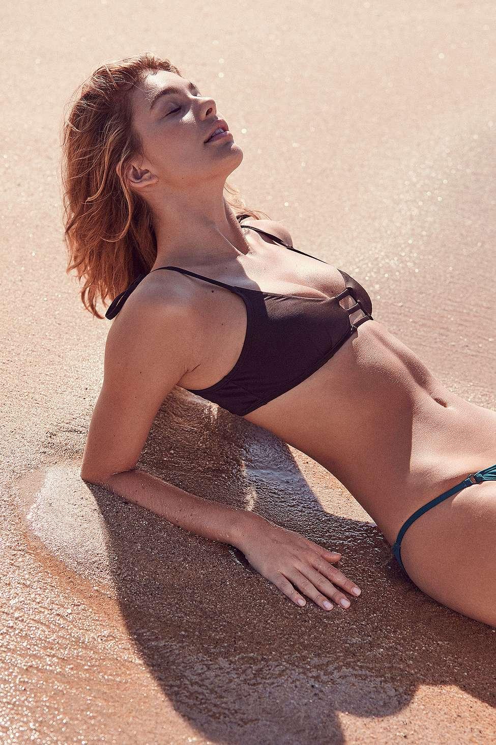 Out From Under Winnie Strappy Bikini Top, Black