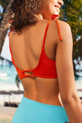 Out From Under - Out From Under Triangle Racerback Bikini Top, Red