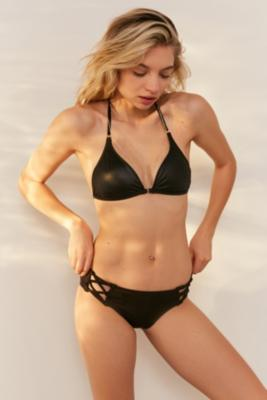 Out From Under - Out From Under Strappy Side Bikini Bottoms, Black