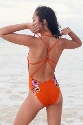 Out From Under - Out From Under Casey Strappy Back Swimsuit, Orange