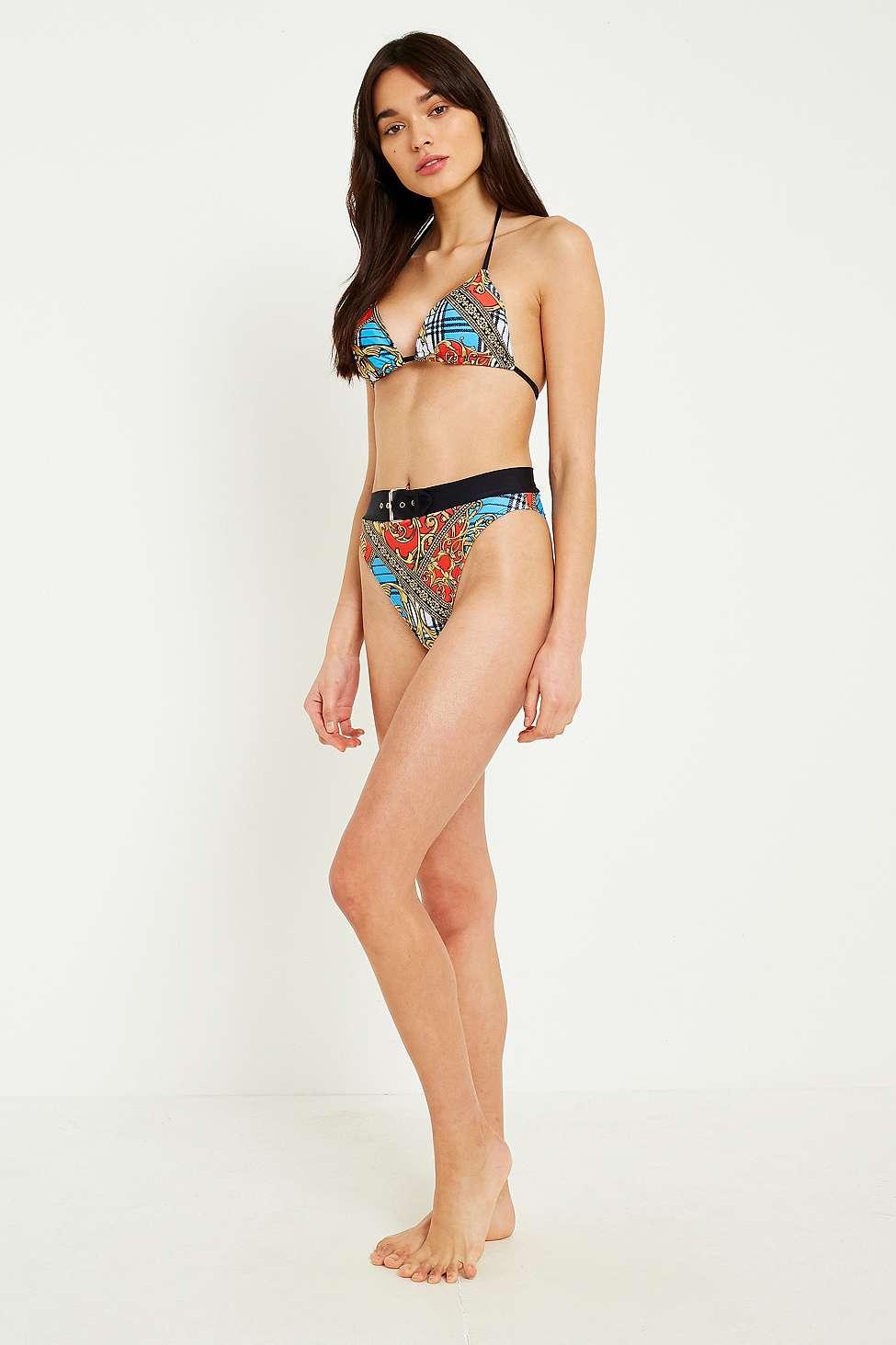 UO Belted High-Leg Bikini Bottoms, Assorted