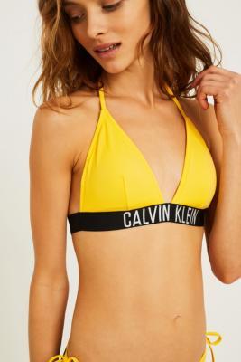 Calvin Klein Intense Power Lemon Triangle Bikini Top by Urban Outfitters