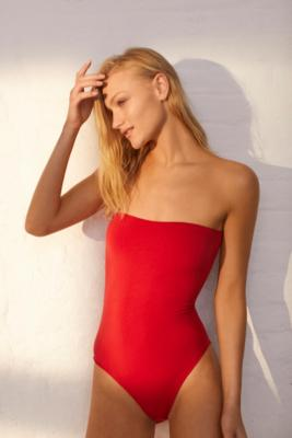 Out From Under - Out From Under Markie Seamless Tube Top Bodysuit, Red