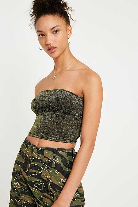 UO Stars Above Lurex Tube Top