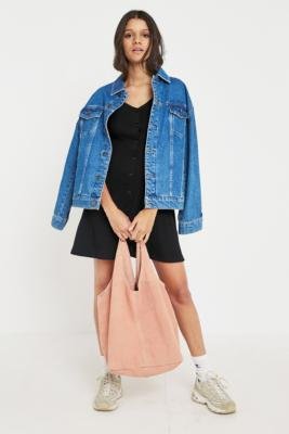 Urban Outfitters - Suede Slouch Tote Bag, Orange