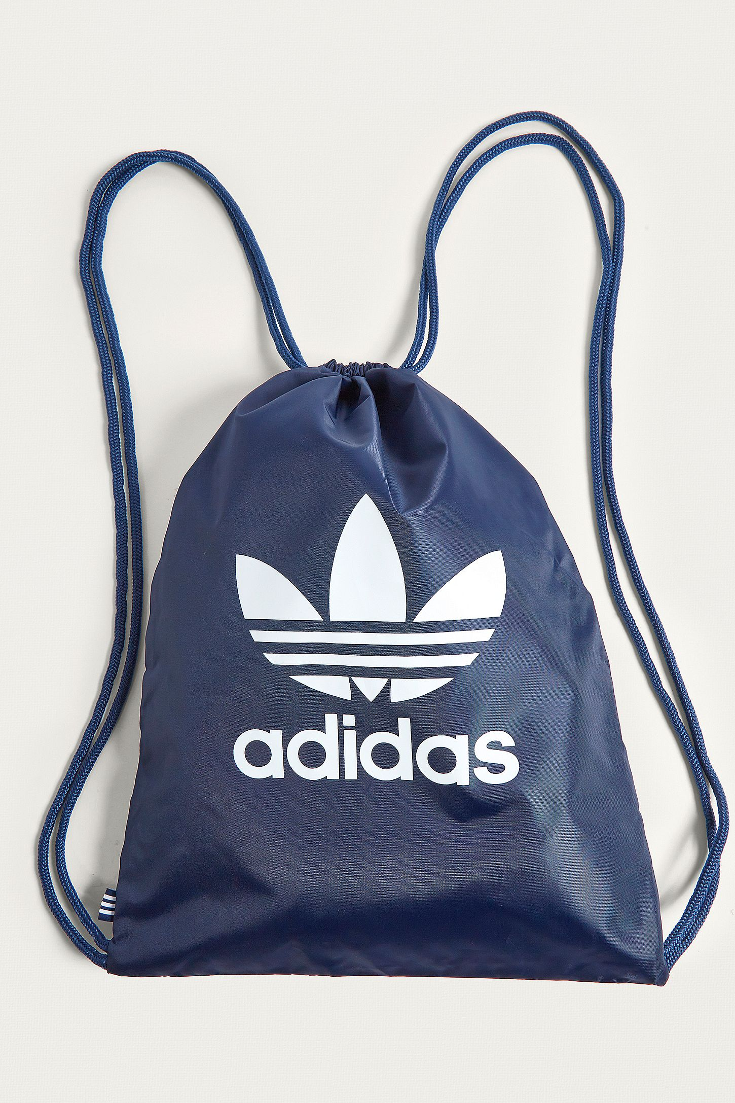 adidas Originals Navy Trefoil Gym Sack. Click on image to zoom. Hover to  zoom. Double Tap to Zoom 701eaea0f43a9