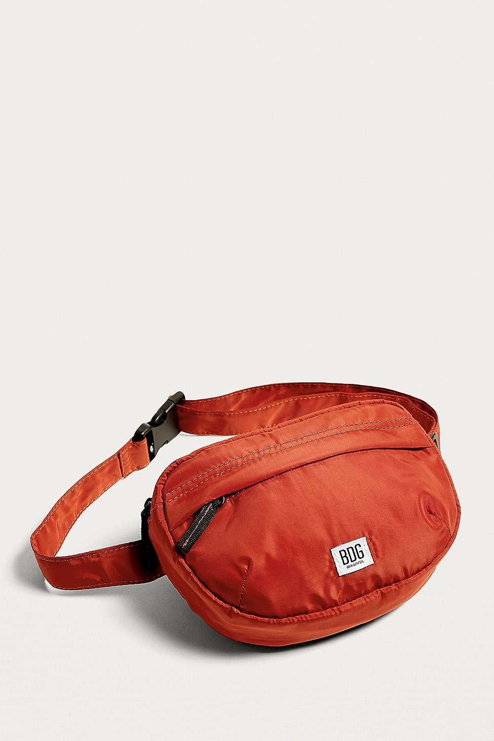 BDG Half-Moon Nylon Bum Bag, Orange