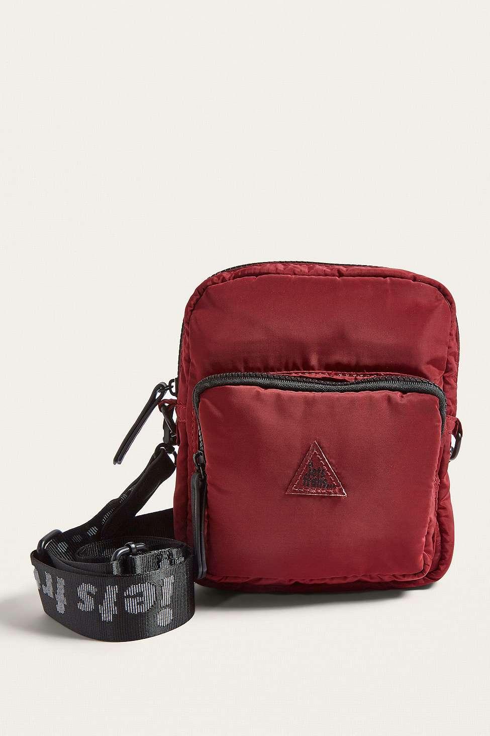 iets frans…  Burgundy Nylon Crossbody Bag, Maroon