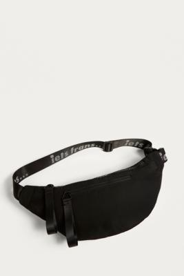 iets frans... - iets frans…  Black Nylon Crossbody Bum Bag, Black