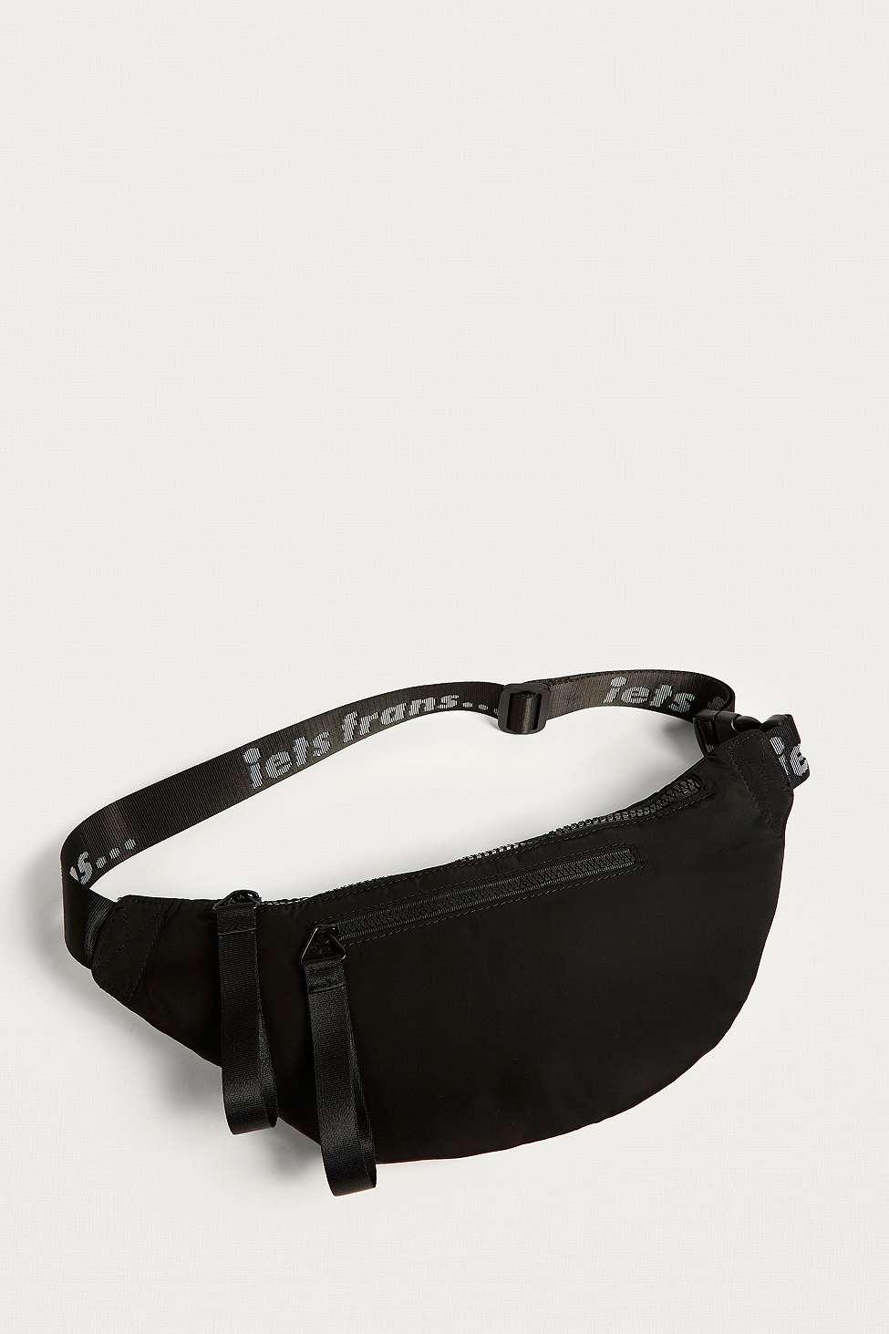 iets frans…  Black Nylon Crossbody Bum Bag, Black